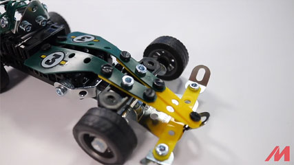 Meccano 5 Model B4: Meccano/Erector 5-Model Roadster (18202) Build #4