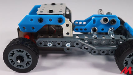 Meccano 10 Model B10: Meccano/Erector 10 Model Rally Racer (18203) Build #10
