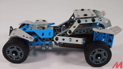 Meccano F18 10 Model B1: Meccano/Erector 10 Model Rally Racer (18203) Build #1