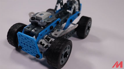 Meccano F18 10 Model B2: Meccano/Erector 10 Model Rally Racer (18203) Build #2
