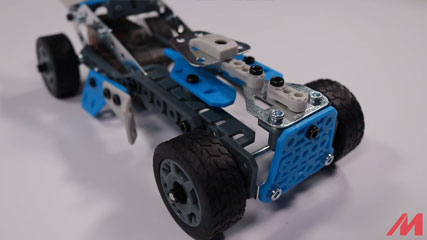 Meccano F18 10 Model B3 MASTER: Meccano/Erector 10 Model Rally Racer (18203) Build #3