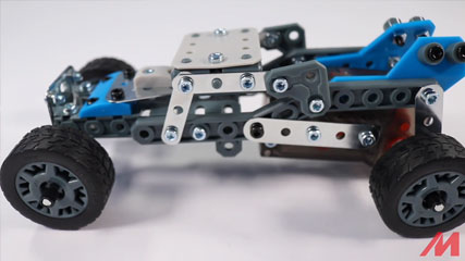 Meccano 10 Model B4: Meccano/Erector 10 Model Rally Racer (18203) Build #4