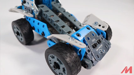 Meccano 10 Model B6: Meccano/Erector 10 Model Rally Racer (18203) Build #6