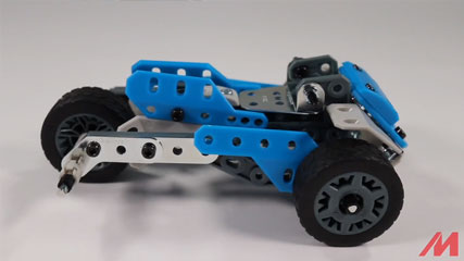 Meccano 10 Model B7: Meccano/Erector 10 Model Rally Racer (18203) Build #7