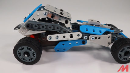 Meccano 10 Model B8: Meccano/Erector 10 Model Rally Racer (18203) Build #8