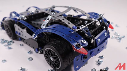 Meccano F18 25 Model B1: Meccano/Erector 25 Model Supercar (18211) Build #1