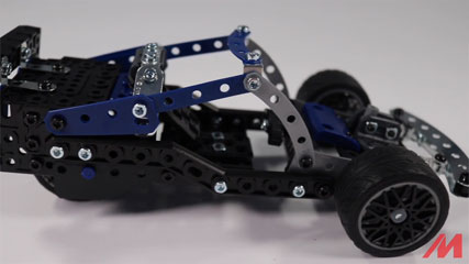 Meccano F18 25 Model B2: Meccano/Erector 25 Model Supercar (18211) Build #2