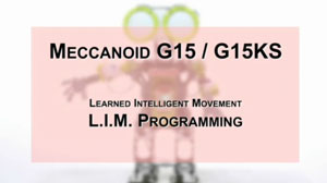 How to Build Meccanoid G15 & G15KS: Learned Intelligent Movement - L.I.M. Programming