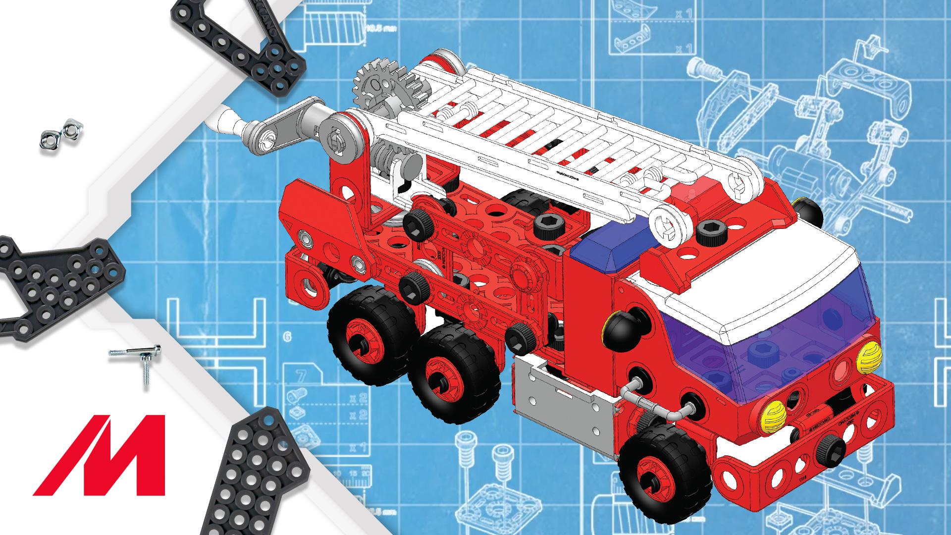 Meccano/Erector Junior | How-To Build theJuniorRescue Fire Truck