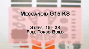 How to Build Meccanoid G15KS: Steps 15-38 - Full Torso Build